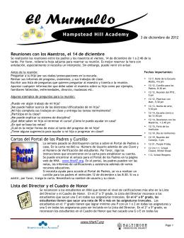 Boletín de Diciembre Español