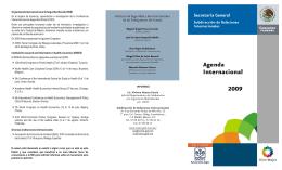 "Tríptico: ""Agenda Internacional, 2009"""