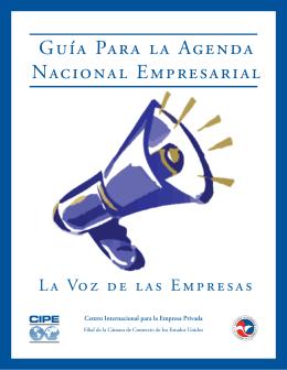 Guía Para la Agenda Nacional Empresarial
