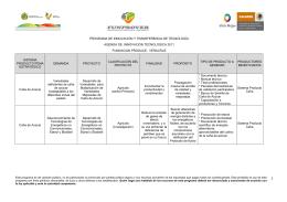 Agenda de Innovación Tecnológica del Estado de Veracruz