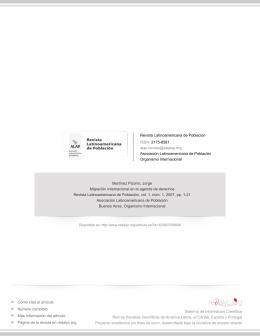 Redalyc.Migración Internacional en la agenda de derechos