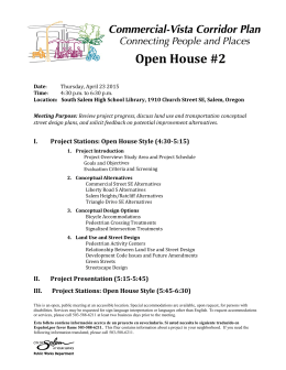 Open House #2 - City of Salem, Oregon