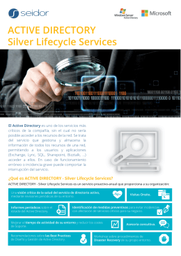 ACTIVE DIRECTORY Silver Lifecycle Services