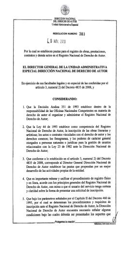 resolucion 303 de 2010