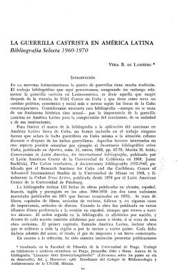 LA GUERRILLA CASTRISTA EN AMERICA LATINA Bibliografía