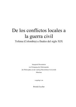 De los conflictos locales a la guerra civil