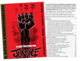 americano «del Inglés: Black Left Unity Network, o BLUN
