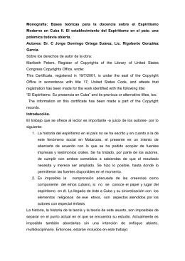 El Espiritismo en Cuba II - Monografías de la UMCC