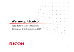 Warm-up técnico - Diagramasde.com