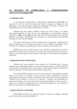 10. MUESTRA DE EMPRESARIAS Y EMPRENDEDORAS