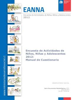 Encuesta de Actividades de Niños, Niñas y Adolescentes 2012