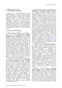 Notas metodológicas - Ministerio de Educación, Cultura y Deporte