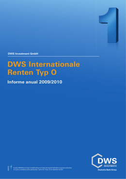 Informe anual DWS Internationale Renten Typ O