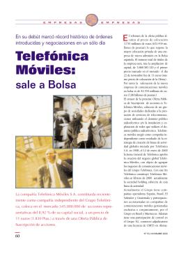 Telefónica Móviles: - Bolsas y Mercados Españoles