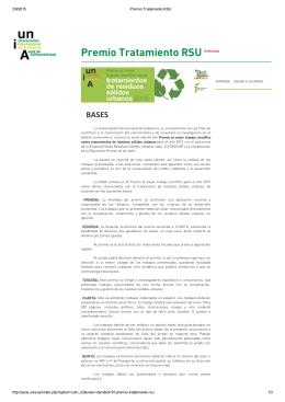 Bases del Premio - Universidad de Jaén