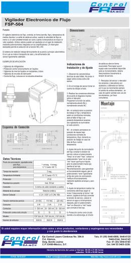 Vigilador Electronico de Flujo FSP-504