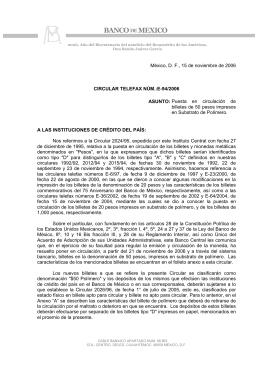 Telefax E94/2006 - Banco de México