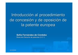Sra. Sofía Fernández de Córdoba, Directorio de Derechos de