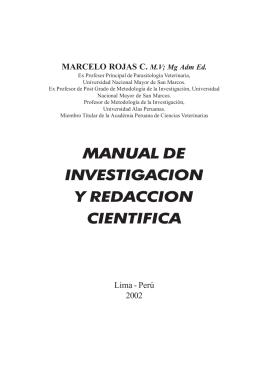 Manual de Investigación y Redacción