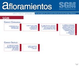 Afloramientos Sep06 - Servicio Geológico Mexicano