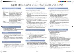 XXVII DESEMBALAJE DE ANTIGÜEDADES DE BILBAO