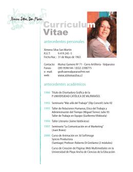 Curriculum Ximena Silva .indd