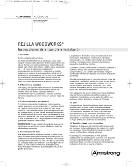 WoodWorks Grille (Rejilla) – Instrucciones de Instalación