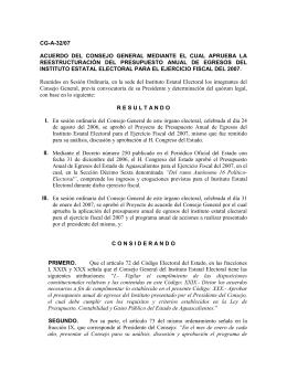 CG-A-32/07 - Instituto Estatal Electoral de Aguascalientes
