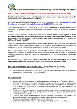 Clase 2 - Escuela de Instrucción Rotaria
