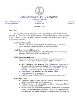 Uninsured - Virginia Department of Health