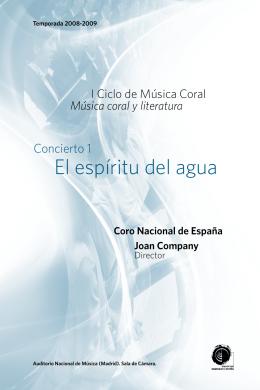 El espíritu del agua - Orquesta y Coro Nacionales de España