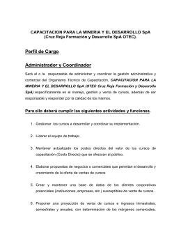 Perfil de Cargo Administrador y Coordinador