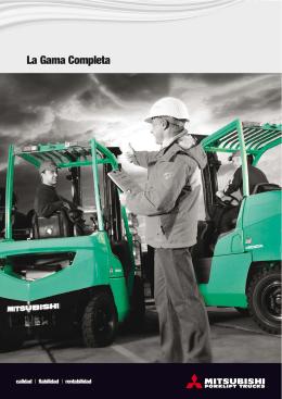 La Gama Completa - Mitsubishi Forklift Trucks