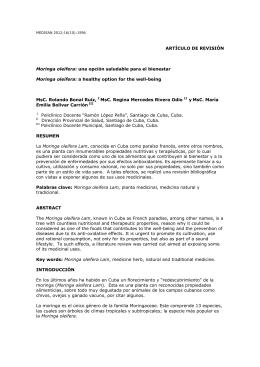 Moringa oleifera: una opción saludable para el bienestar