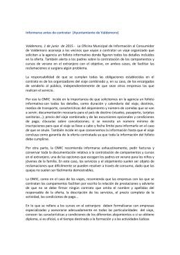 Informarse antes de contratar (Ayuntamiento de Valdemoro