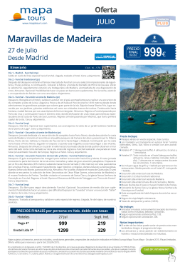 999€ - Mapa Tours