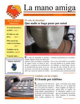 August 1, 2009 - La mano amiga