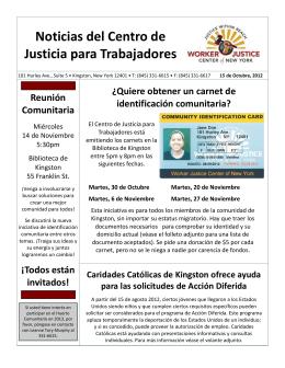 Noticias del Centro de Justicia para Trabajadores