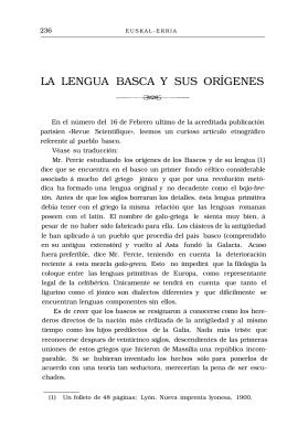 LA LENGUA BASCA Y SUS ORÍGENES