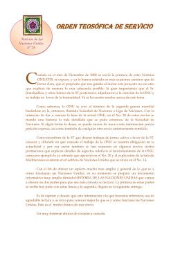 ORDEN TEOSÓFICA DE SERVICIO