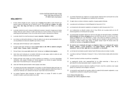 reglamento e información de la prueba