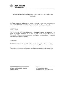 I Programa 2009 - Caja Rural de Granada