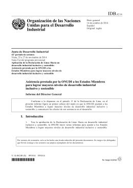 Organización de las Naciones Unidas para el Desarrollo Industrial