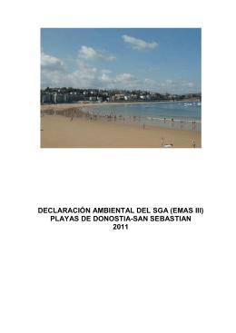 sistema de gestion ambiental de playas de donostia