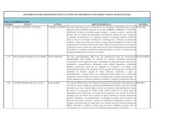documentos recomendados por el centro de documentación maría