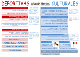 BALONCESTO FÚTBOL SALA y FÚTBOL 7 GIMNASIA ARTÍSTICA