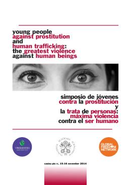 simposio de jóvenes contra la prostitución y la trata de personas