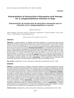 Interpretation of doxycycline+chloroquine dual therapy for A