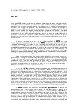 Cronologia del Arte Postal en España (1973