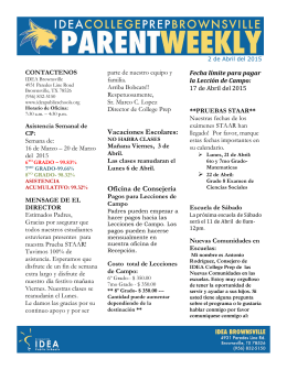Parent Weekly-2 de Abril del 2015